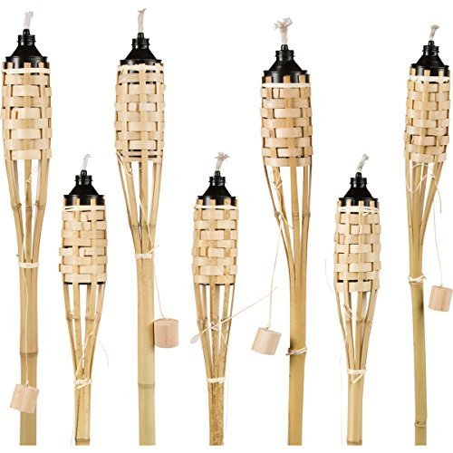 Tall Bamboo Tiki Torches Luau - (7 Pack)