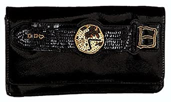 Betsey Johnson Watch Out Clutch Handbag, Black