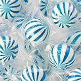 Blueberry Sassy Spheres Blue & White Striped Candy Balls 1LB Bag