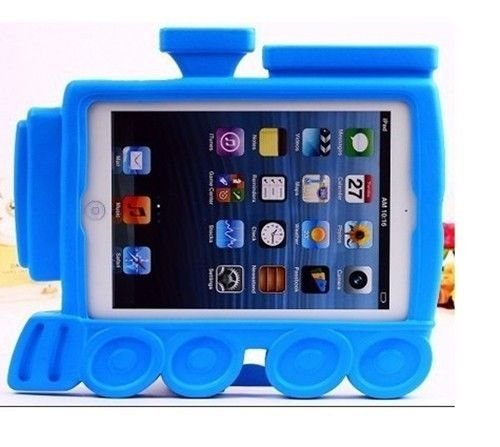 Carry360 Eva Kids Train Engine Shock Proof Protective Case Cover Stand For Ipad Mini - Blue