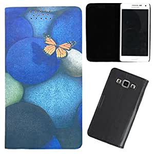 DooDa - For Lenovo RocStar (A319) PU Leather Designer Fashionable Fancy Flip Case Cover Pouch With Smooth Inner Velvet