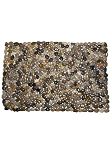 "Grey River Rock 34"" Stones Extra Large Rock Door Mat Doormat Indoor Outdoor"
