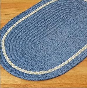 Colonial Mills CO59 Kids Chenille Accent Stripe - Blue, 3.5 x 5.5 ft.
