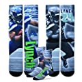 Marshawn Lynch Seattle Seahawks For Bare Feet NFL Drive Player Profile Socks