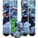Marshawn Lynch Seattle Seahawks For Bare Feet NFL Drive Player Profile Socks