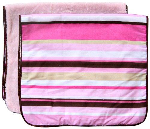 Caden Lane Classic Collection Burp Set, Pink Stripe, 2-Count