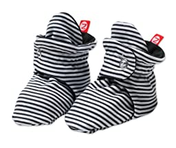Zutano Baby Girls\' Candy Stripe Bootie, Black, 18 Months