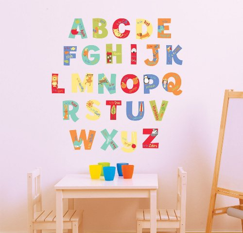FunToSee A Is for Alphabet Nursery Wall Stickers - 1