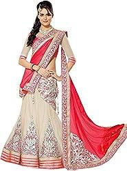Apka Apna Fashion Women's Net Lehenga Choli (aaf4_Red_Free Size)