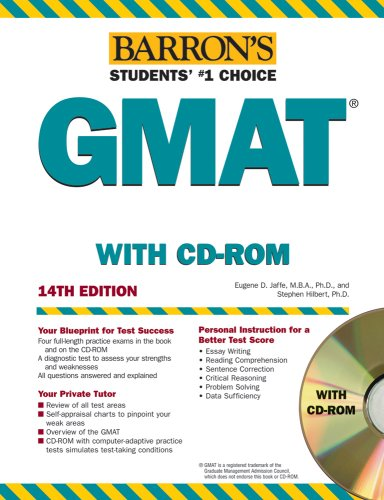 Barron's GMAT, 2008 with CD-ROM (Barron's How to Prepare for the Gmat Graduate Management Admission Test) 14th Edition