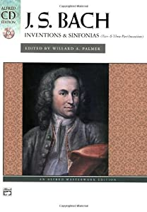Bach -- Inventions Sinfonias 2 3 Part Inventions Book Cd Alfred Masterwork Edition Cd Edition from Alfred Publishing