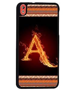 Printvisa 2D Printed Alphabet A Designer back case cover for HTC Desire 816G - D4189