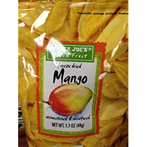 Trader Joe's Freeze Dried Mango Unsweetened &amp; Unsulfured 1.7oz