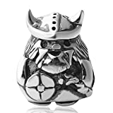 Viking Warrior Charms Authentic 925 Sterling Silver Bead Fits Europen Style Bracelets (Viking Warrior-2)
