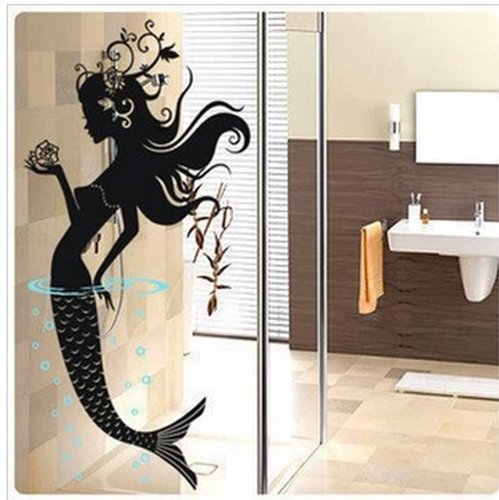 Mermaid bathroom wall decal0cm mermaid cast iron hook set