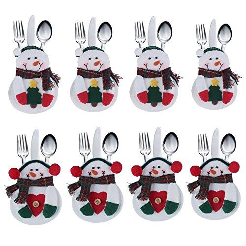 Portaposate Costume da Babbo Natale, Natale, decorazione per tavolo 8 PCS