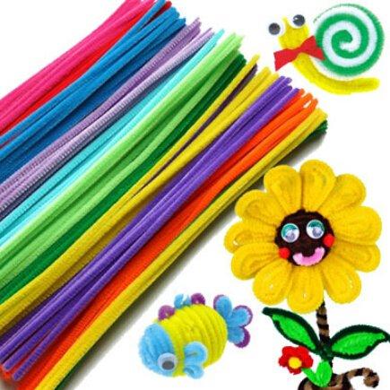 (48pcs/set), Plush Stick & Shilly-Stick Children's Educational Toys Handmade Art DIY Doll Materials