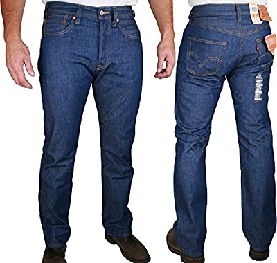 MENS LEVIS 501 STRAIGHT FIT - Button Fly Levi Strauss Jeans