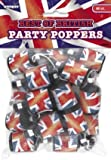 Best Of British Party Poppers Bag Of 20 British Party Decorations Tableware & Accessories for English Patriotic Party