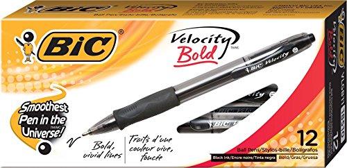 bic-velocity-ballpoint-bold-point16-mm-retractable-pen-pack-of-12bicvlgb11bk