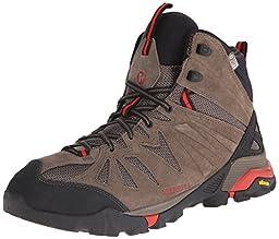 Merrell Men\'s Capra Mid Waterproof Hiking Boot, Boulder, 10.5 M US