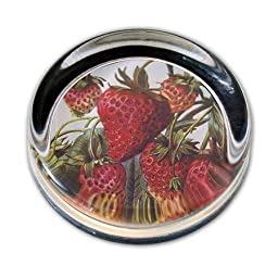 Summer Sweetness - Small Round Glass Paperweight