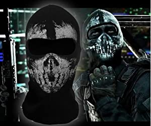 Ehotbill From Head to Neck Cool Bike Skateboard Hood Cos Terrorists Costume Call of Duty 10 Balaclava Face Skull Ghost Mask Wind Stopper Mask (No.4)
