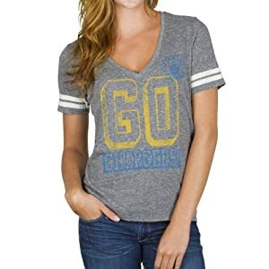 NFL Ladies San Diego Chargers Tailgate Triblend T-shirt By Junk Food by Junk Food