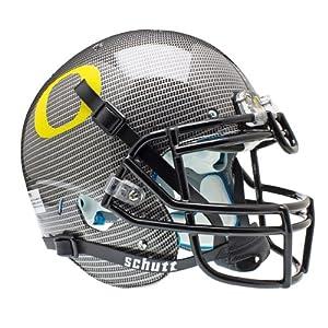 NCAA Oregon Ducks Authentic XP Football Helmet, Carbon Fiber by Schutt