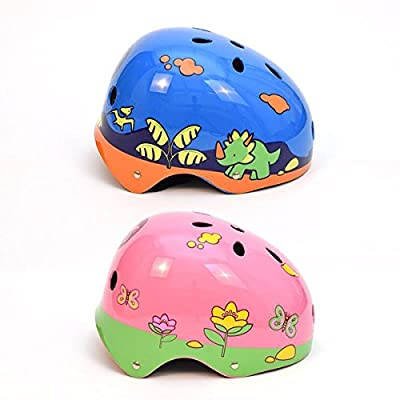 3Style Scooters® Dinosaur Boys and Flower Girls Kids Safety Bike Helmet Cycling Skating Racing Scooter Bike (Medium 55-57cm) from 3Style Scooters