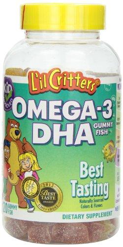 L'il Critters 丽贵 Omega-3 Gummy Fish with DHA 儿童鱼油DHA软糖 120粒*3瓶装