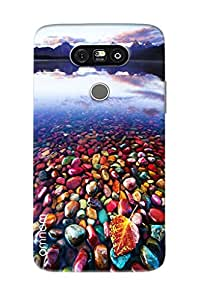 Omnam Beautiful Sea Shells On The Side Of River Printed Designer Back Cover Case For LG G5