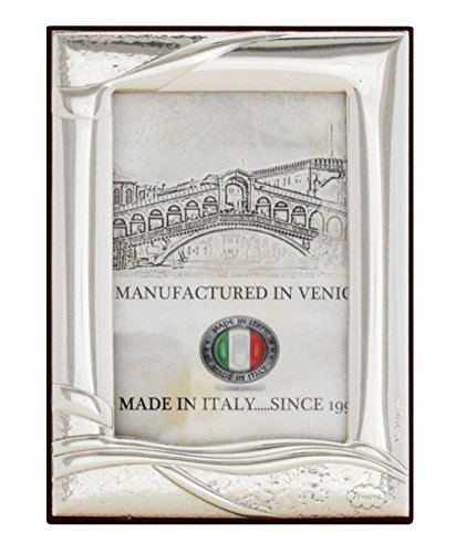 RIVER S Photo Frame Picture 3x4 Inch Frame Silver Made in Italy Handcraft