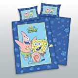 Baby duvet cover lined SpongeBob SquarePants for babies and kids 100x135 - 40x60 cm