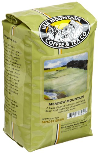 Vail Mountain Coffee &amp; Tea Meadow Mountain Blend Whole Bean Coffee, 12-Ounce Bags (Pack of 3) Image
