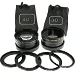 BiG DIGITAL 2.5x Telephoto and 0.43X Wide Angle High Definition w Macro Portion Conversion Lenses for Sony E-Mount - Alpha a6000 - a5000 - A3000 - NEX - NEX-F3K - NEX-3NL - NEX-3N - NEX-3NL B - NEX-3NL W - NEX-5T - NEX-5TL - NEX-5TL S - NEX-5TL W - NEX-5R - NEX-5RK - NEX-6L - NEX-6L B - NEX6L B2BDL - NEX-7 - a7R - a7S - a7K - ILCE7 B - Compact System Digital SLR Cameras