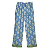 Women's Border Paisley Periwinkle Cotton Pajama Set