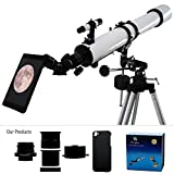 YA Cellphone Eyepiece Adapter for Spotting Scopes/Telescopes/Microscopes Compatible with iPhone 5 5S [Images Fully Displaying on The Screen] [Focal Length of 14mm] [Visual Angle 75degrees]