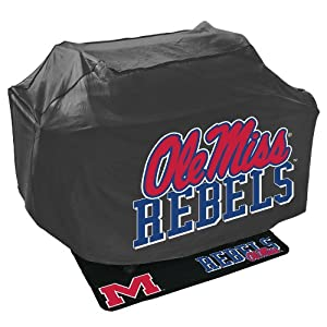 Buy Mr. Bar B Q NCAA Grill Cover and Grill Mat Set, University of Mississippi Rebels Ole Miss by Mr. Bar-B-Q