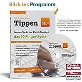 """Tippen360� 10-Finger Schreibkurs und Tipptraining. Lernen Sie jetzt das anerkannte 10-Finger System in nur 4 bis 6 Stunden!von """"Tippen360"""""""