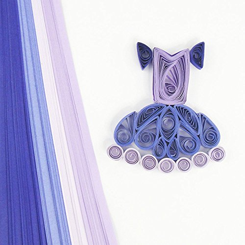 Quill On Quill On Tones of Purple Quilling Strips, Purple