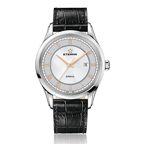 Eterna 2520.41.56.1258 - Reloj de pulsera hombre, piel, color negro