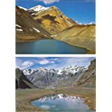 DollsofIndia Suraj Tal In Lahaul And Lake Near Pangmo In Spiti (Set Of Two) - Reprint On Card Paper - Unframed...