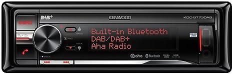 Kenwood KDC-BT73DAB Autoradios Bluetooth, En Façade