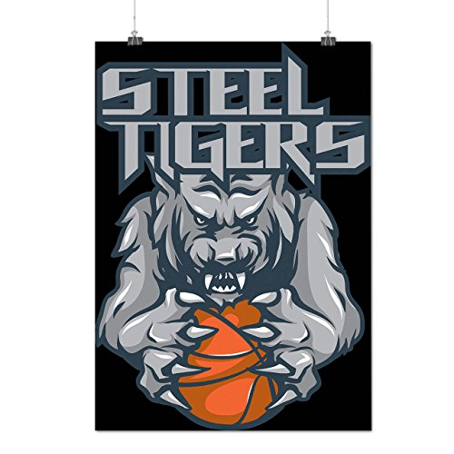 [Steel Tigers Sport Basketball Matte/Glossy Poster A2 (17x24 inches) | Wellcoda] (Aerobics Costume Designs)