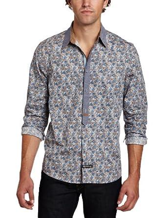 English Laundry Men's Petersborgough Shirt, Brown, Small