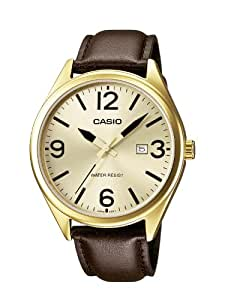 Casio Herren-Armbanduhr XL Casio Collection Analog Quarz Leder MTP-1342L-9BEF