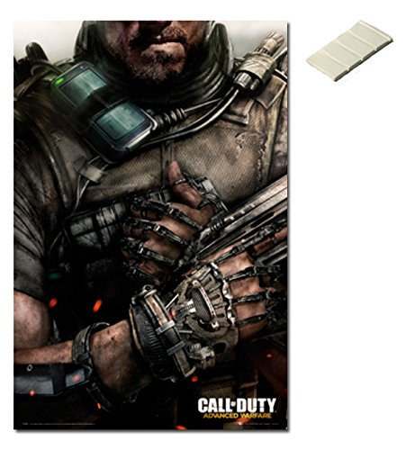 Bundle - 2 Items - Call Of Duty Advanced Warfare Poster - 91.5 x 61cms (36 x 24 Inches) and Small Block Of White Tack (Advanced Warfare Items compare prices)