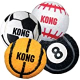 Kong Air Dog SPORT BALLS Thick Rubber Tennis Material Dog Fetch Toy Small (ABS3)