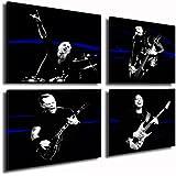 Bilder Kunstdrucke / Boikal / Bild mit Keilrahmen Metallica 4 teile je 50x50cm xxl.40